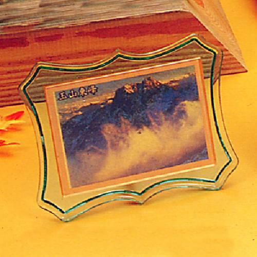 綠色壓克力 造型黃金獎牌 黃金畫